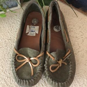 Lucky Brand suede tan moccasins